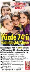 """Mülteci Hayatlar Monitörü"""" Hürriyet'te… Fakir ama Mutlu-1"""