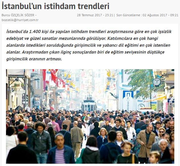 istanbulun istihdam trendleri