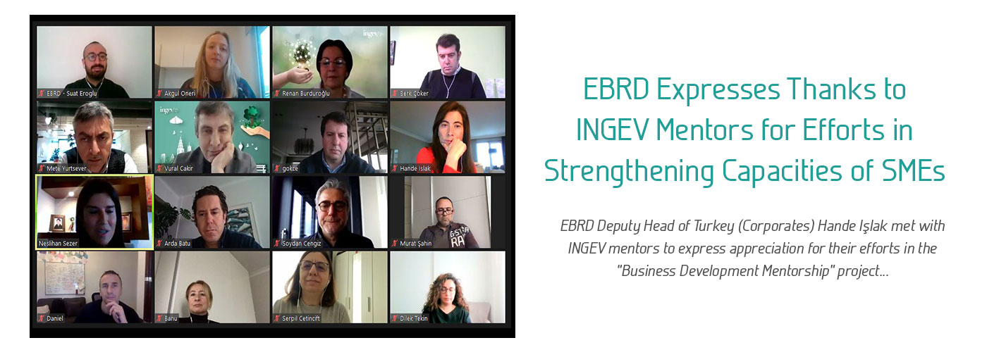 EBRD Expresses Thanks to INGEV Mentors for Efforts in Strengthening Capacities of SMEs