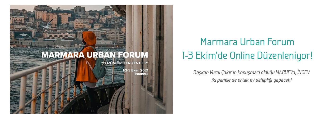 Marmara Urban Forum 1-3 Ekim'de Online Düzenleniyor!